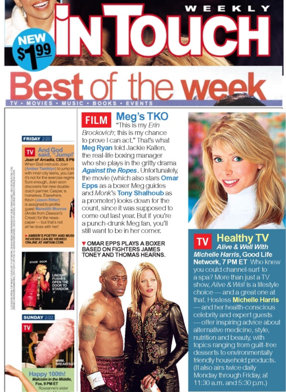Michelle Harris from Alive & Well TV Show in In Touch Magazine