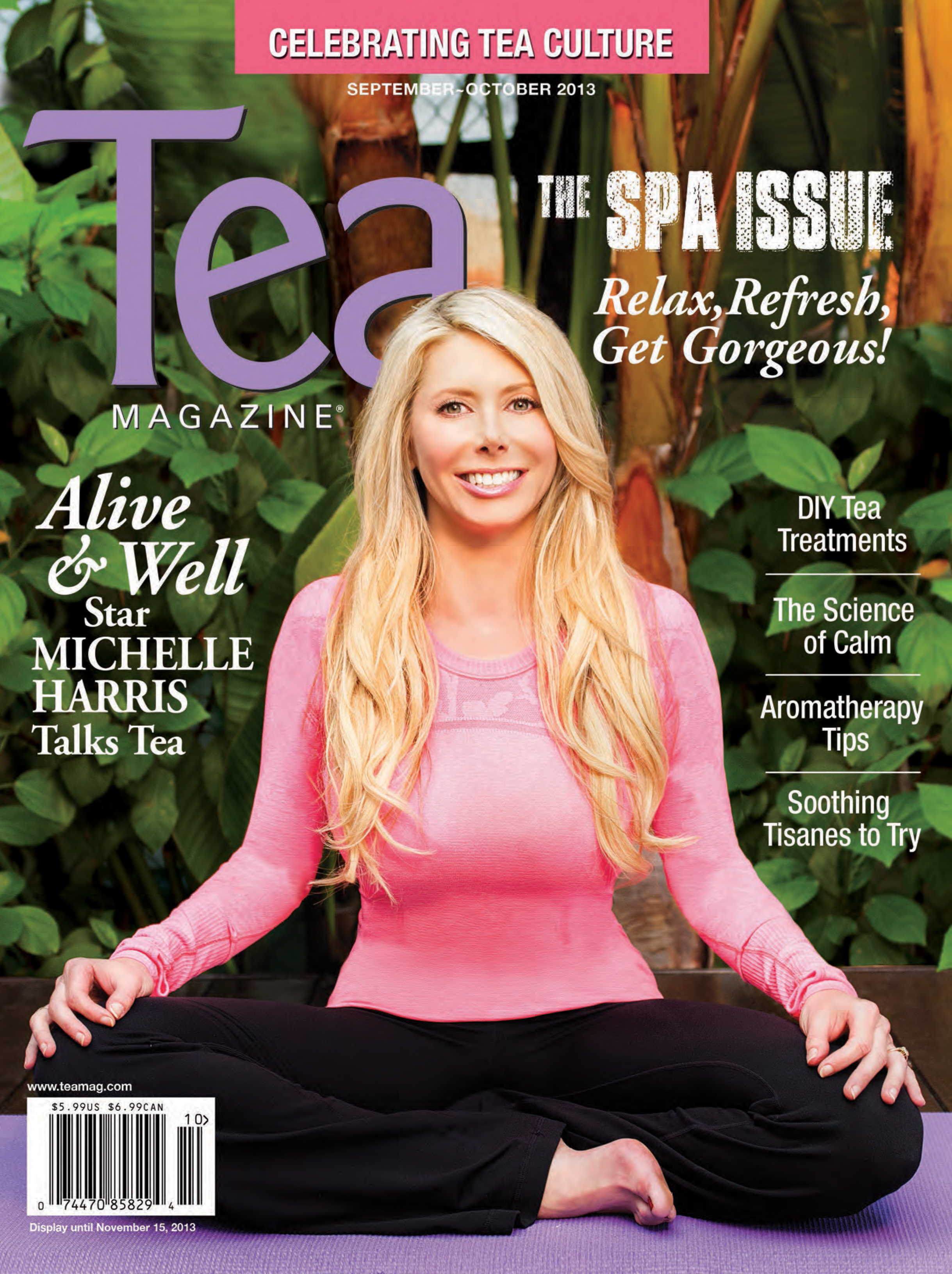 Michelle Harris of Alive and Well TV Show on the cover of Tea Magazine.