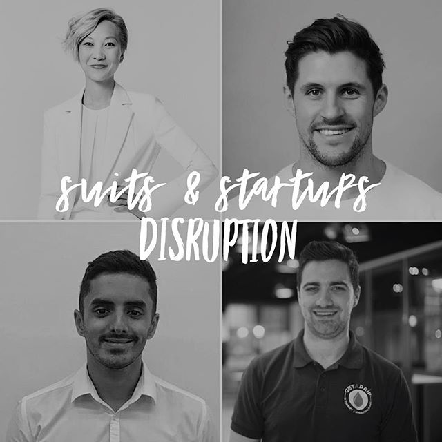 "*""Those who disrupt their industries change consumer behaviour, alter economics, and transform lives.""* . That's exactly what the amazing founders at our first ever Suits & Startups event are doing - disrupting the #food #fashion and #fitness industries with their revolutionary products! 😍😈 . If you would like to join us on 2nd August from 6.30pm for an evening of discussion and discovery with Joel Burgess @joel_nutrifix @nutrifix_app 🥘 Joanna Dai @joannadai @daiwear 👗 Rich Chambers @getadrip 💧 and the PwC Disruption team 👨‍🔬hit the link in our bio to find out more and for your free ticket!👆#suitup"