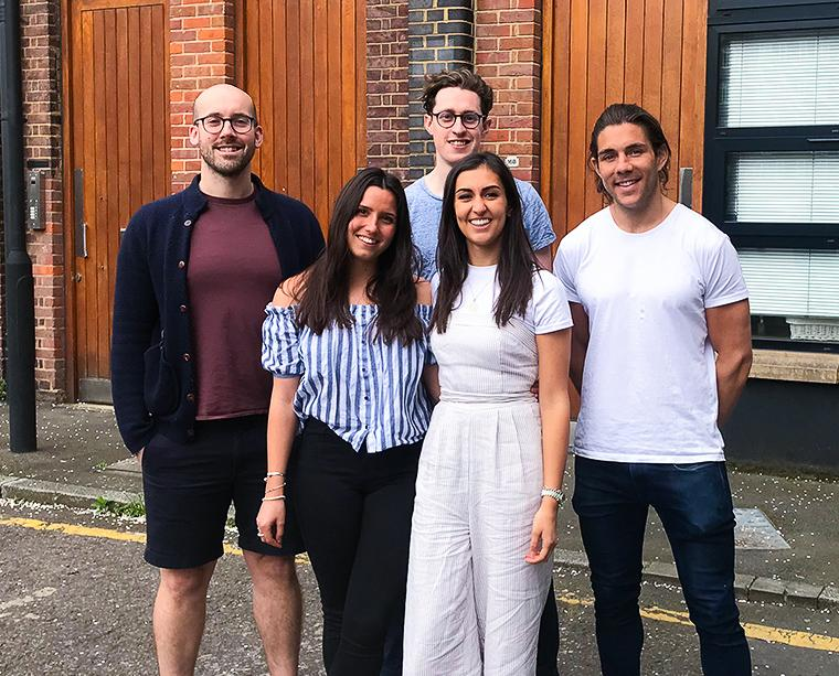 The Dr Will's team - L to R: (Dr) Will, Lucy, Liam, Tash and Josh