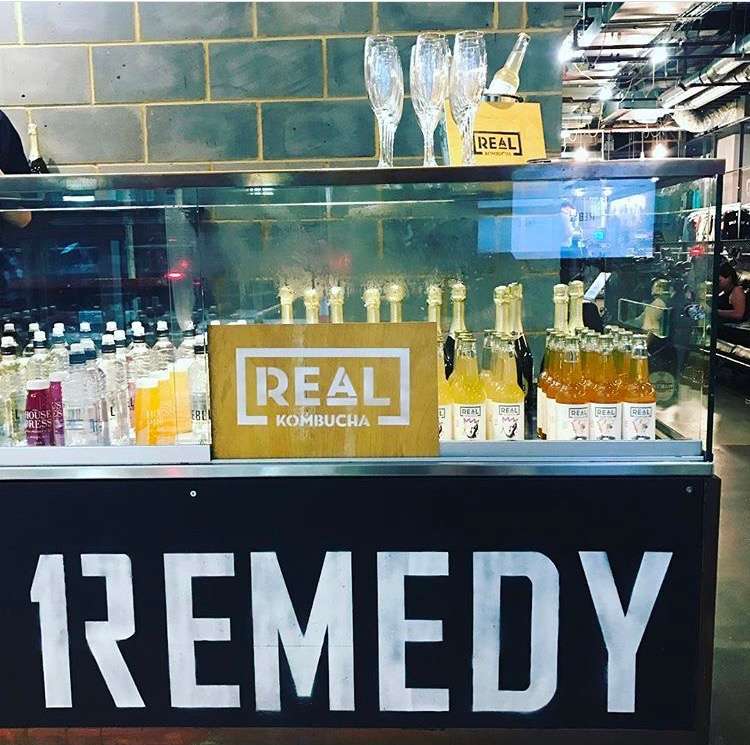 When two of your favourite startups collide! Real Kombucha at 1Rebel - we like!