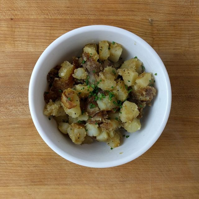 Home Fried Taters - What we need is a few good taters. https://www.badinfluencekitchen.com/blog/2018/04/08/home-fried-taters #potato #brisketjim