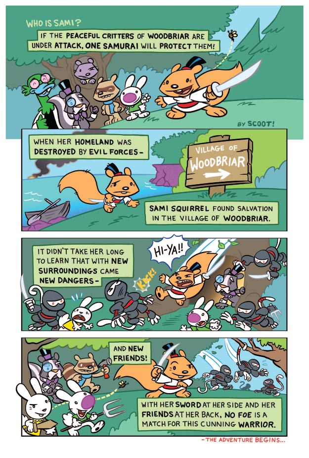 Sami the Samurai Squirrel Welcome to Woodbriar Page 1.jpg