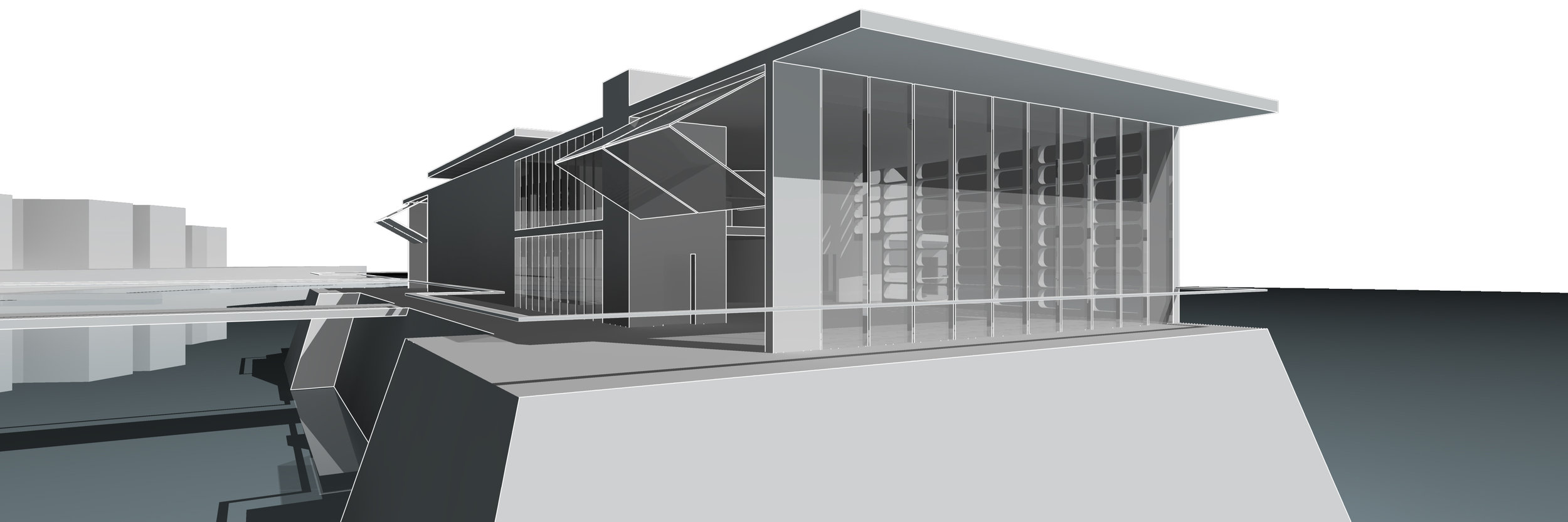 Perspective View of the Concert Hall Entry Lobby