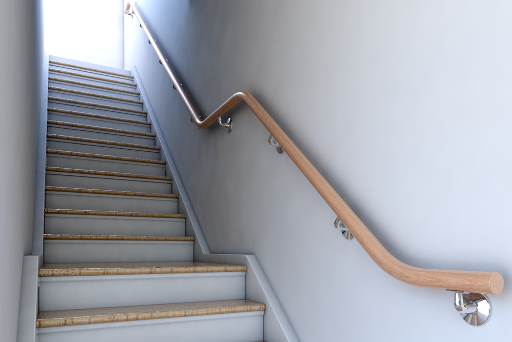 Design Development rendering of the new staircase.