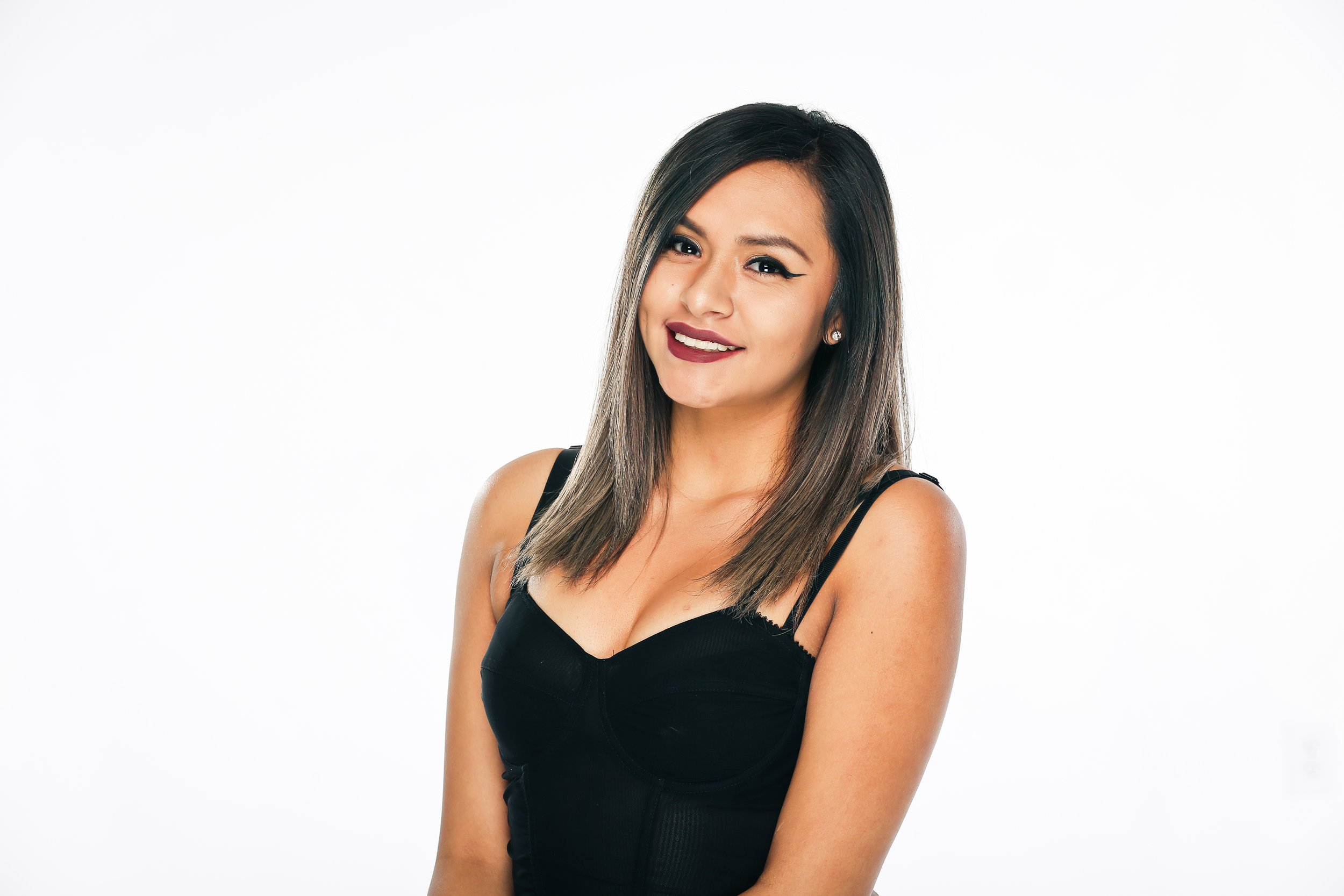 Diana Diaz -  Diana has been in the industry for almost a year and is fascinated by all aspects of beauty. Even though she is young, she is very ambitious and dedicated to our clients. She loves everything we do as hairstylists and excited to learn many new things. She admires our vision and strive to follow through day in & day out.