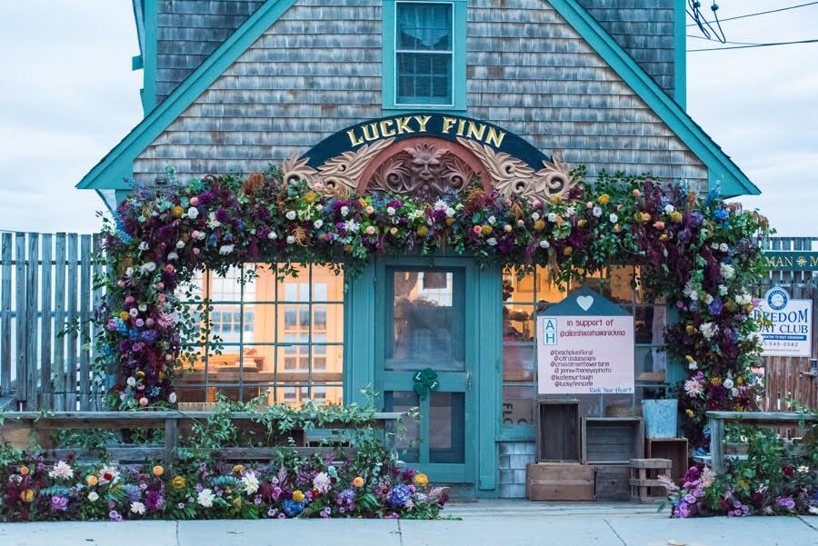Lucky Finn Cafe, Scituate MA - Autumn Charity Floral Installation