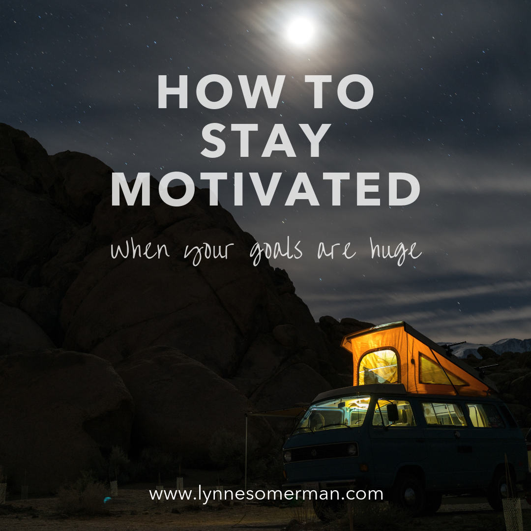 Personal finance tips || How to stay motivated when your goals are huge by The Wiser Miser. This is how you can stay motivated to pay off debt and reach other financial goals.