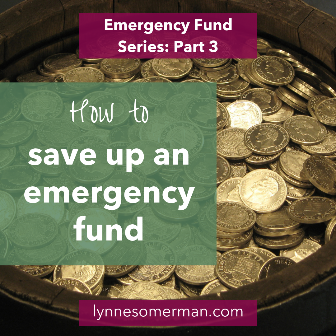 Personal finance advice || How to save up an emergency fund by The Wiser Miser. Here's how to save money for your emergency fund.