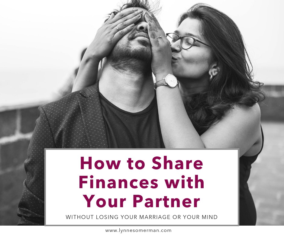 Personal finance tips || How to share finances with your partner (without losing your marriage or your mind) by The Wiser Miser. This is how to talk about finances in marriage.