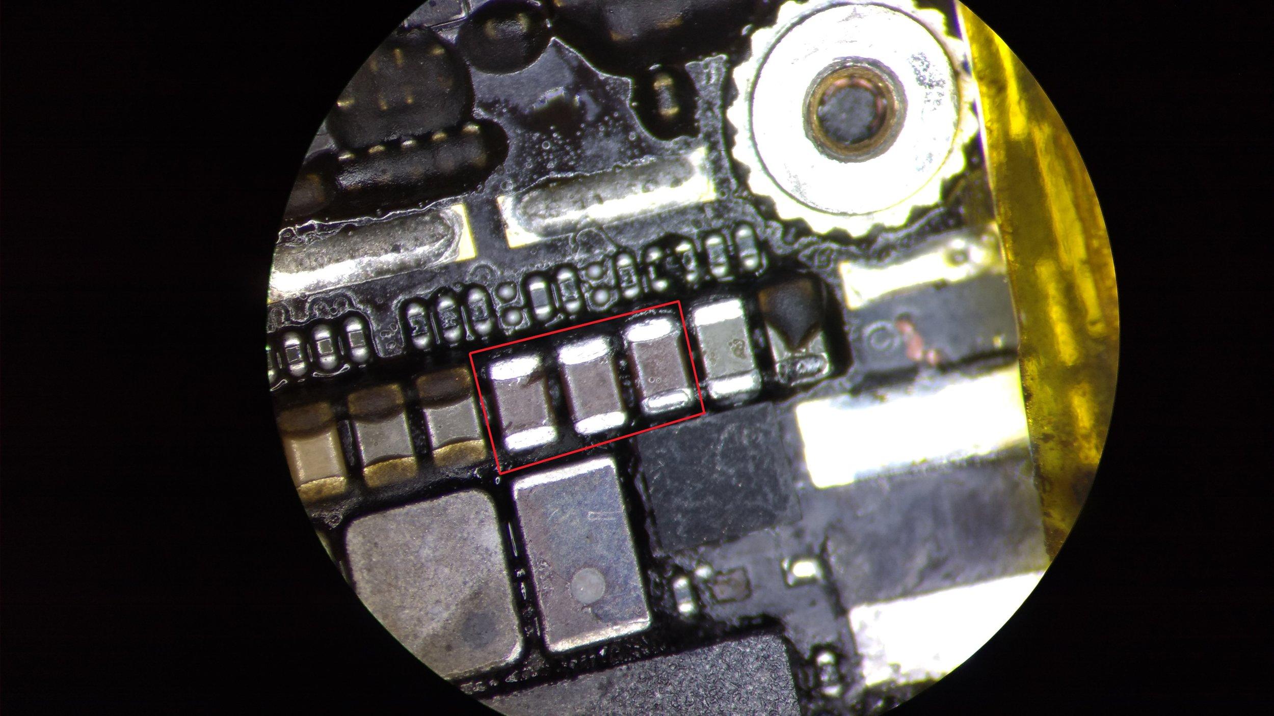 iphone 6 backlight capacitors