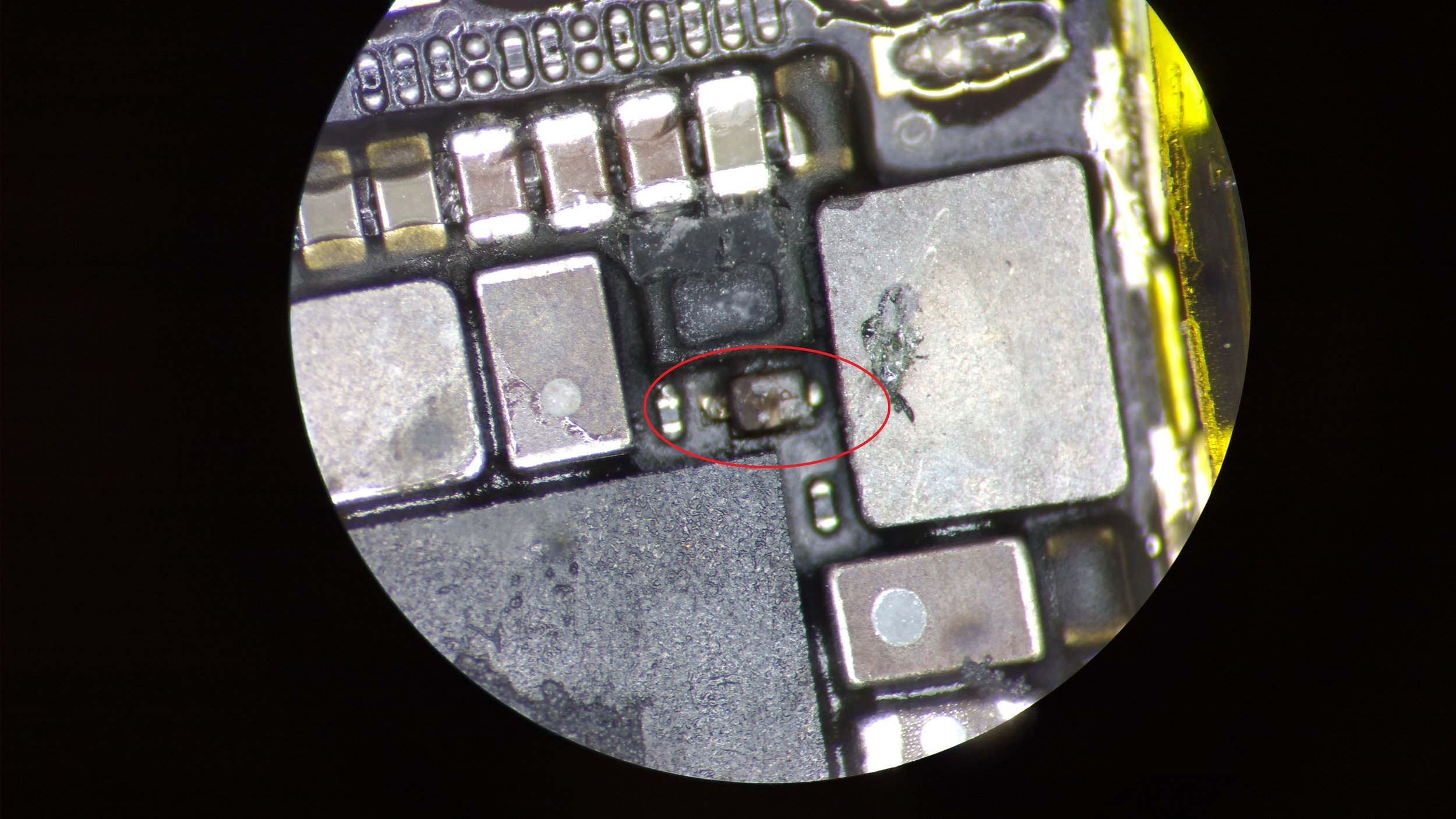 iPhone 6 D1501 Diode burnt