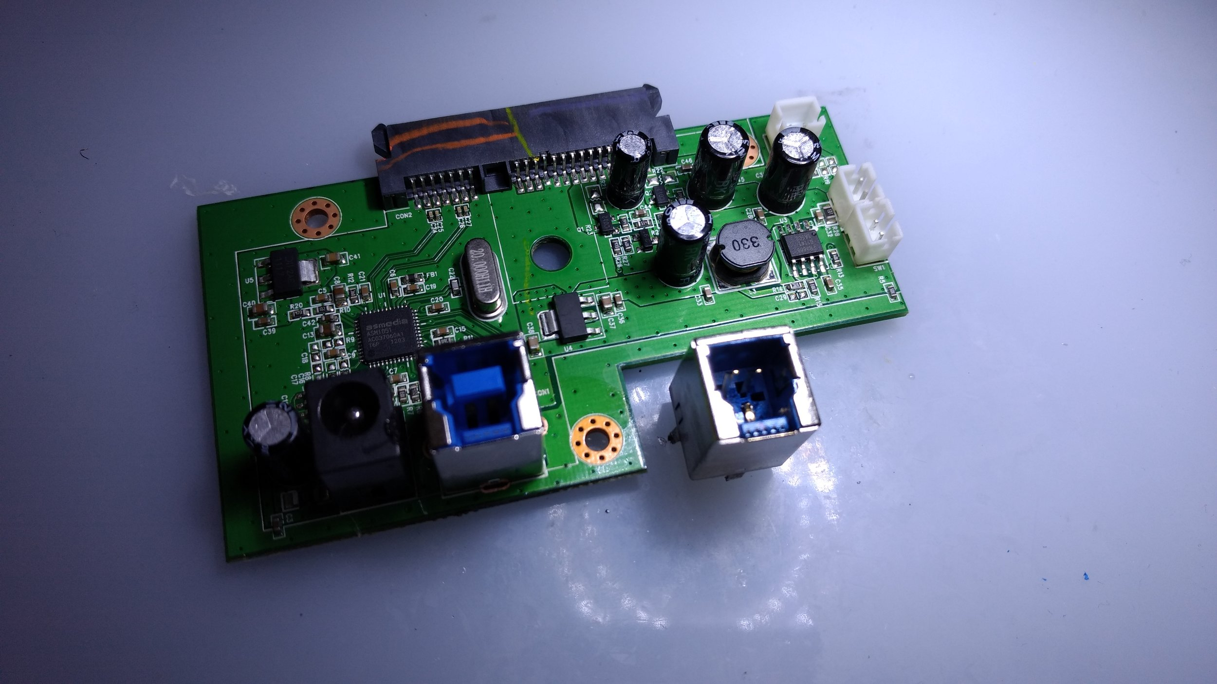 circuit board usb port