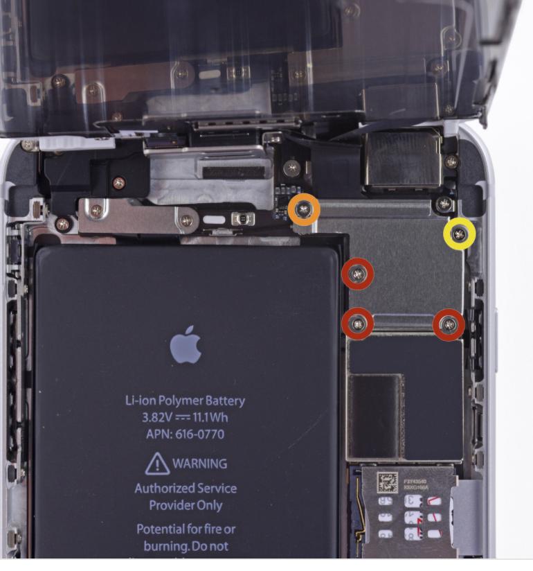 iphone 6 plus screw layout