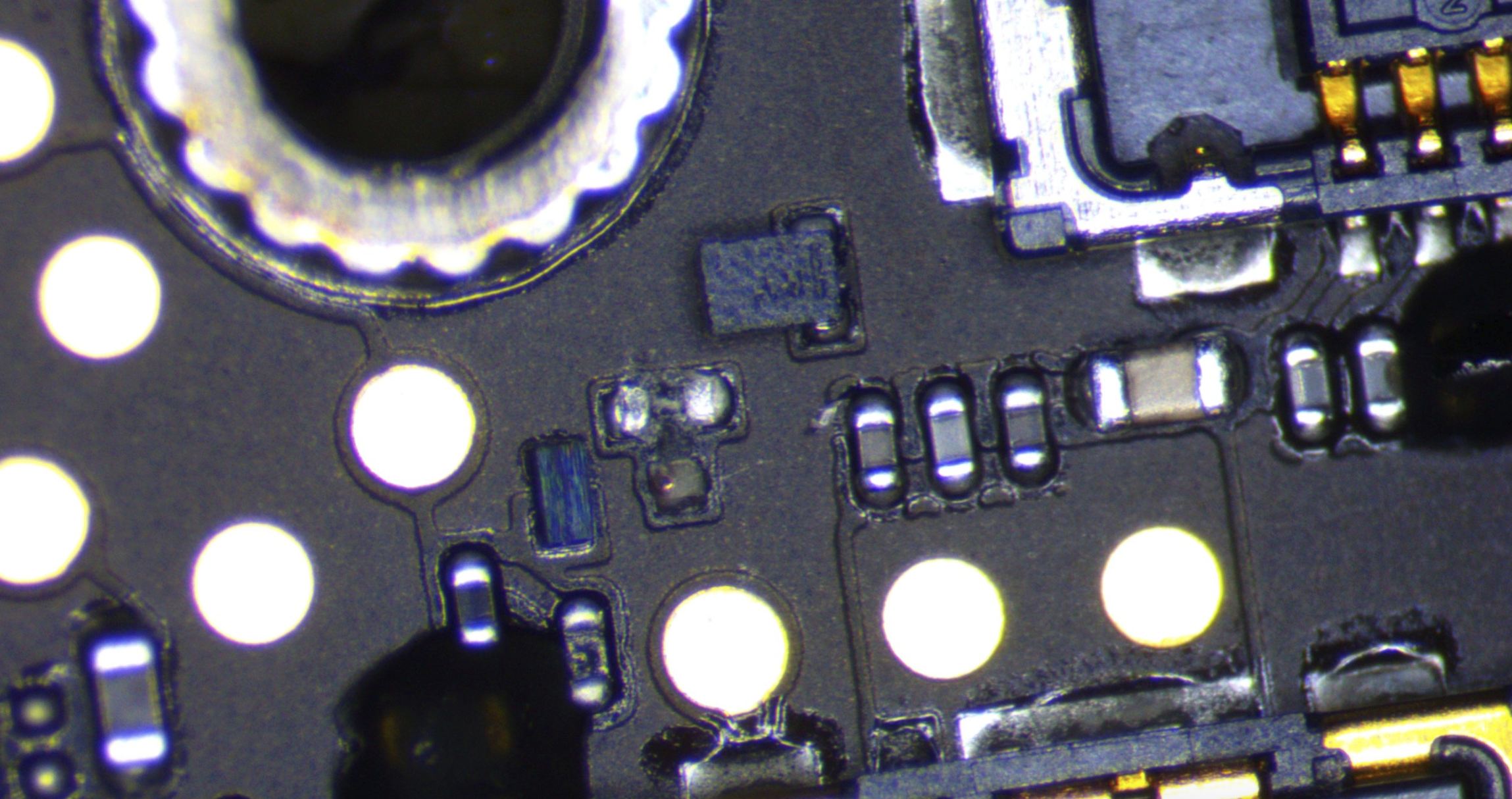 Broken gas gauge mosfet ic iphone 8
