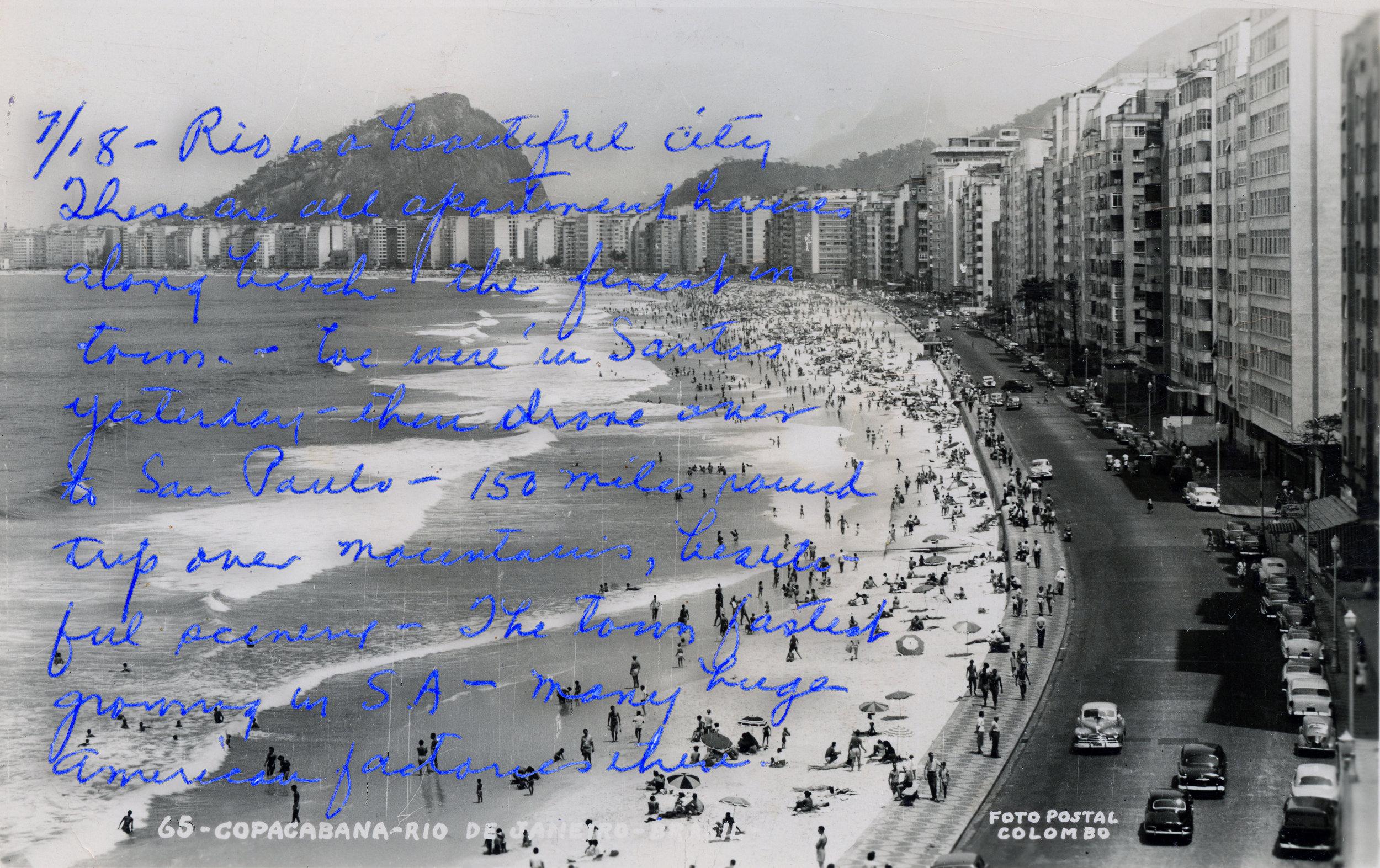 Mr. & Mrs. Schlobohm    photochrome postcard, 1933