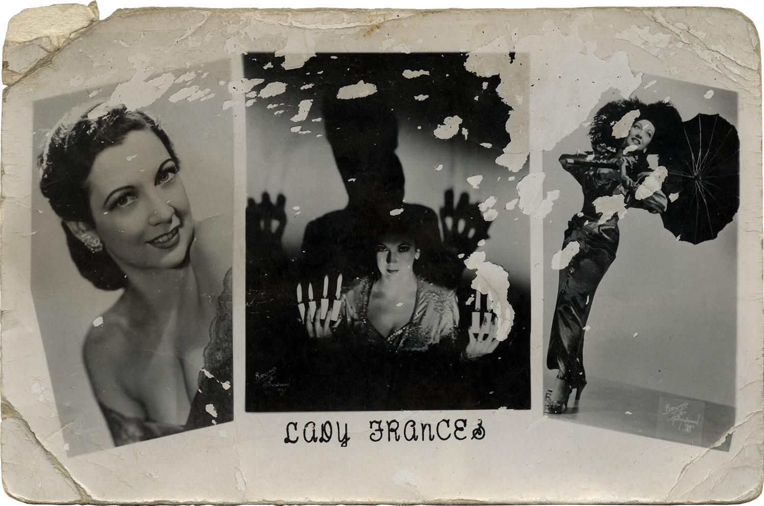 Lady Francis    photochrome promotional postcard, c. 1940s