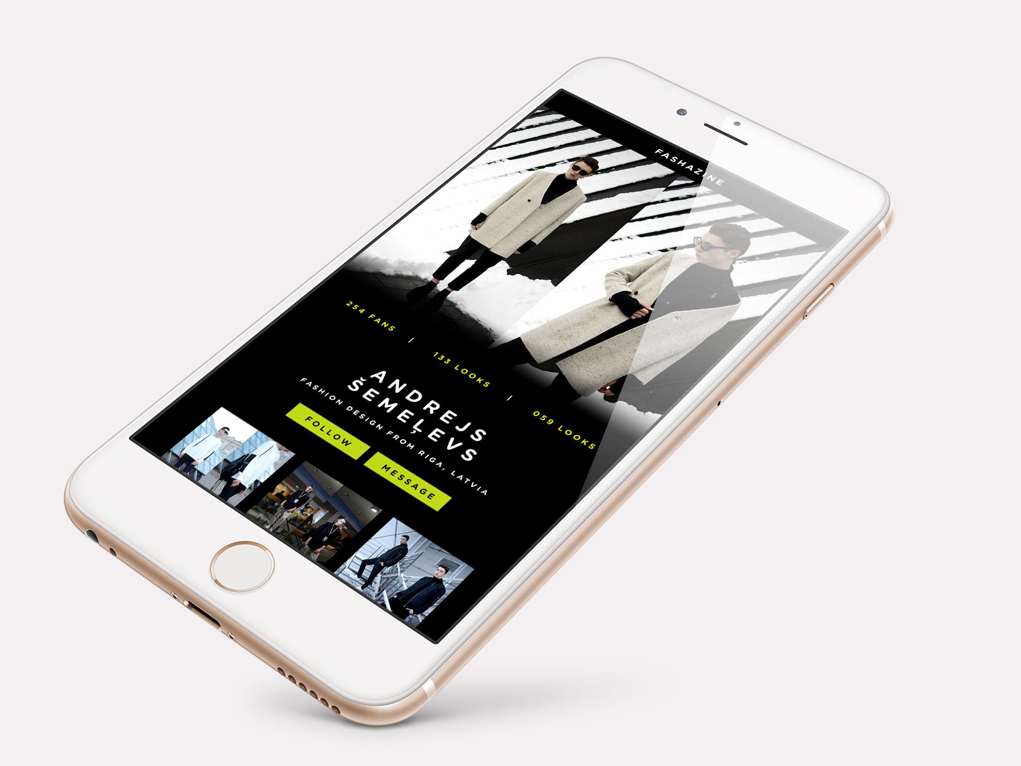 Fashion Blogger User Profile Page