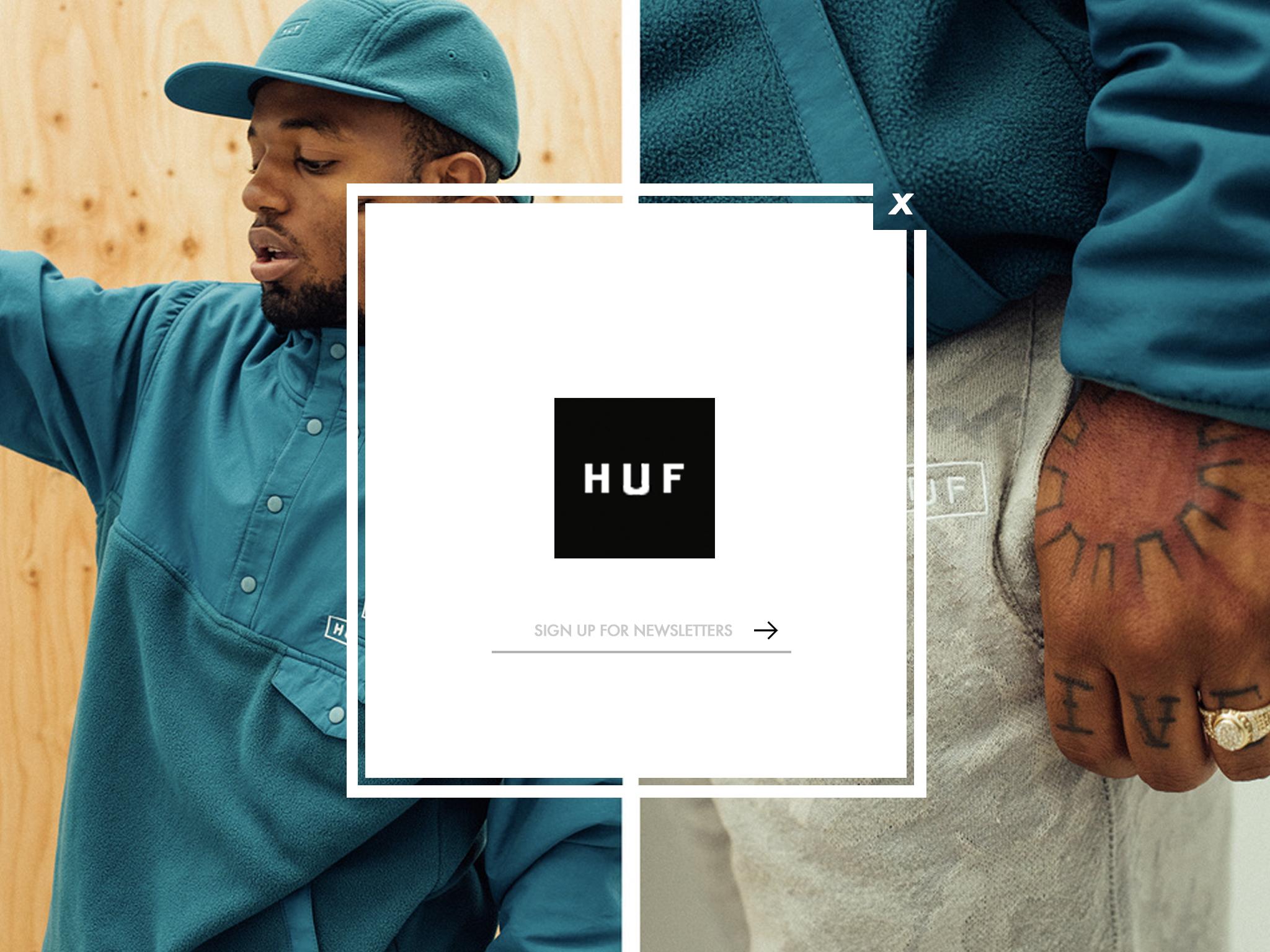 HUF Pop Up/Overlay Box