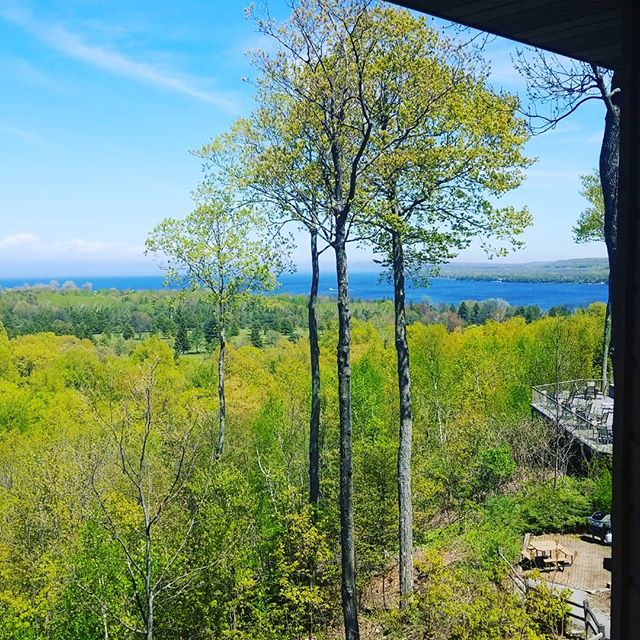 The view of the lake from our suite in Door County, WI. SO beautiful!