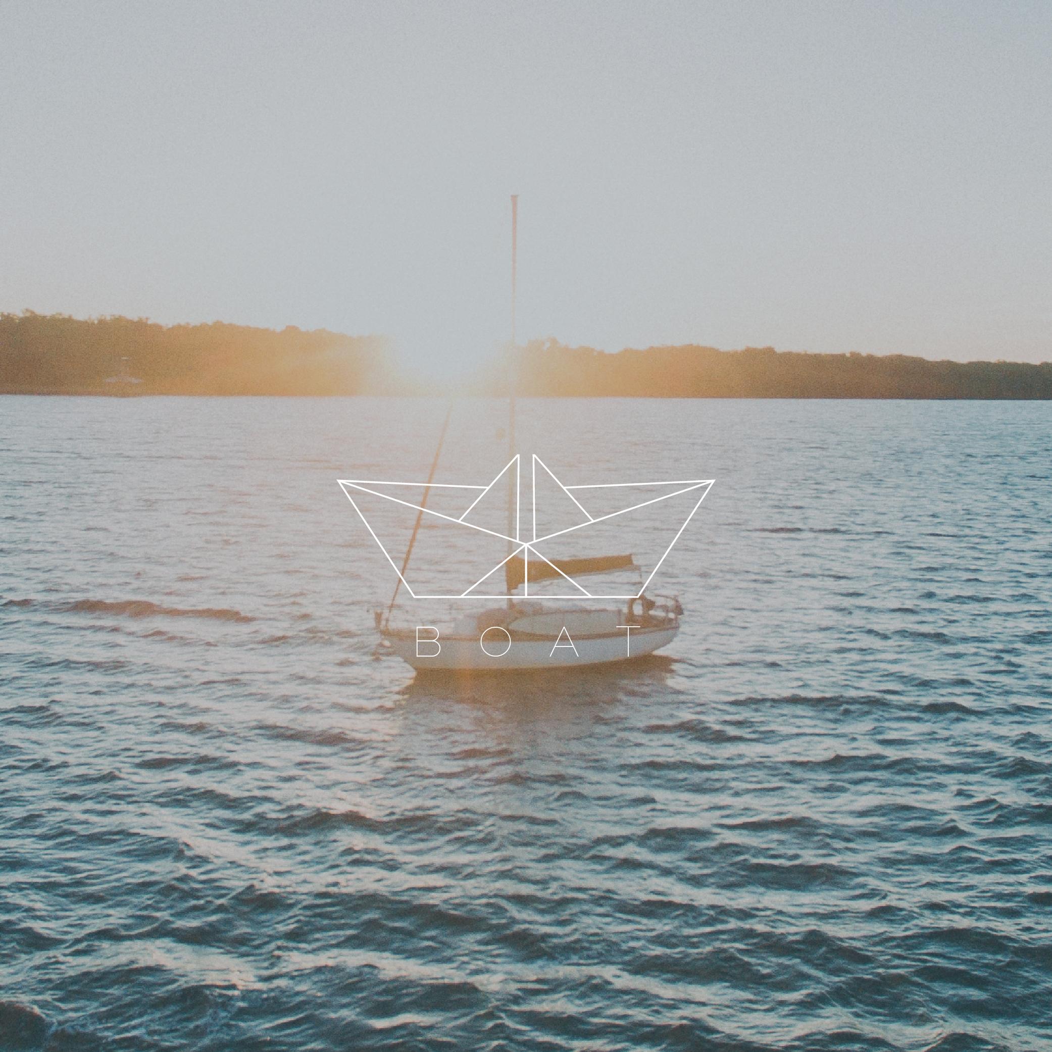 Origami Boat Logo - Apollo Creative Co - Hampshire Graphic Design