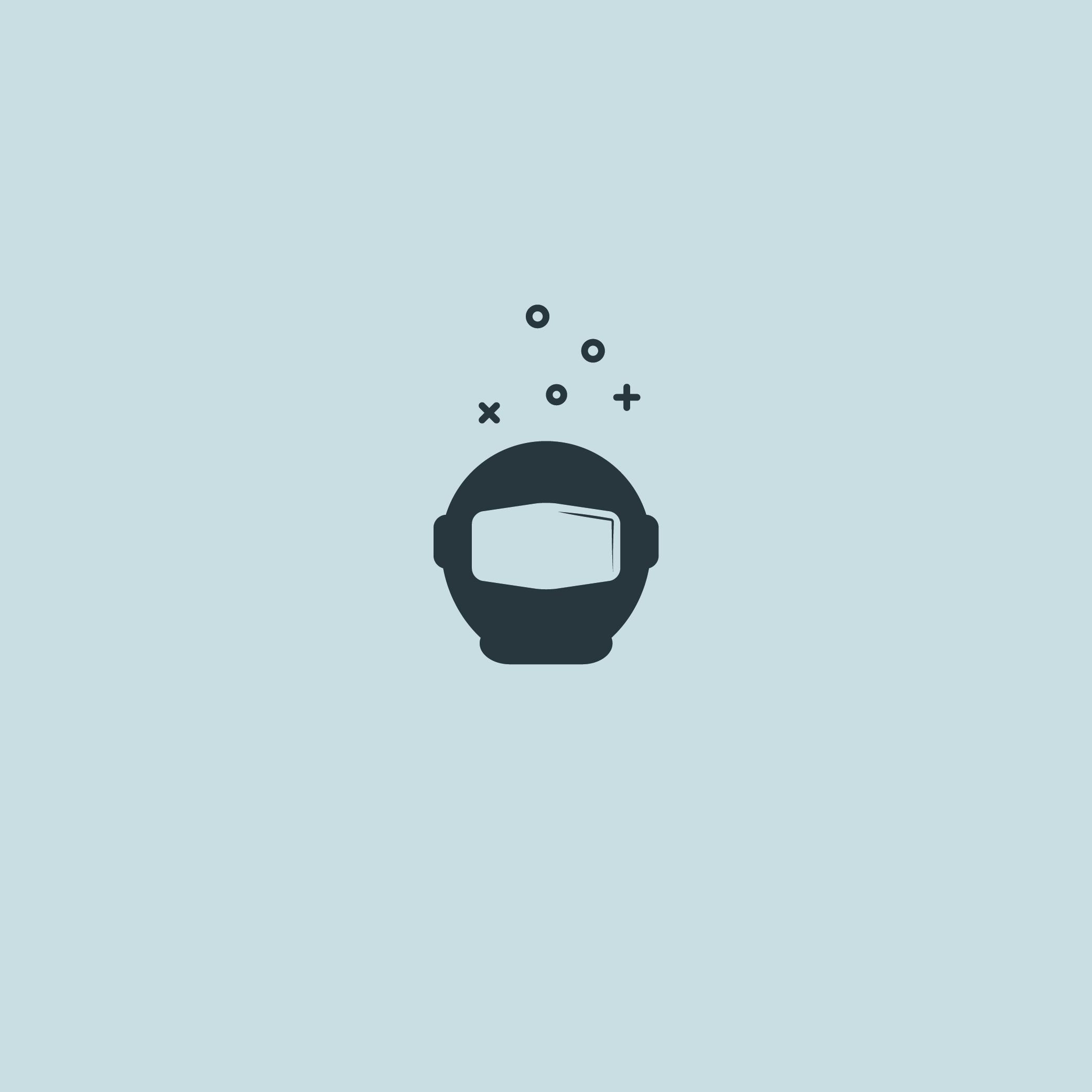 Spaceman Logo - Apollo Creative Co. - Hampshire Graphic Design