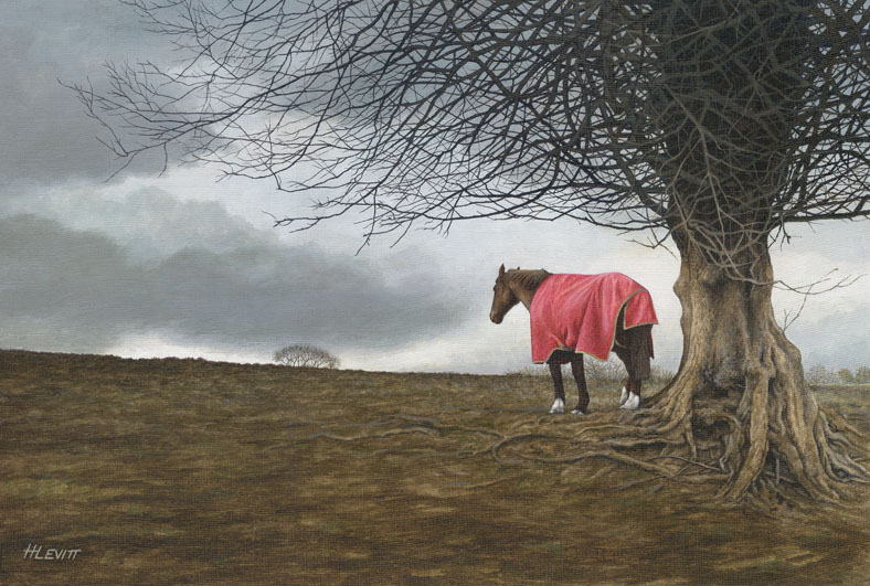Sheltering the Storm.  Acrylic painting on linen. Sold-Limited edition prints available