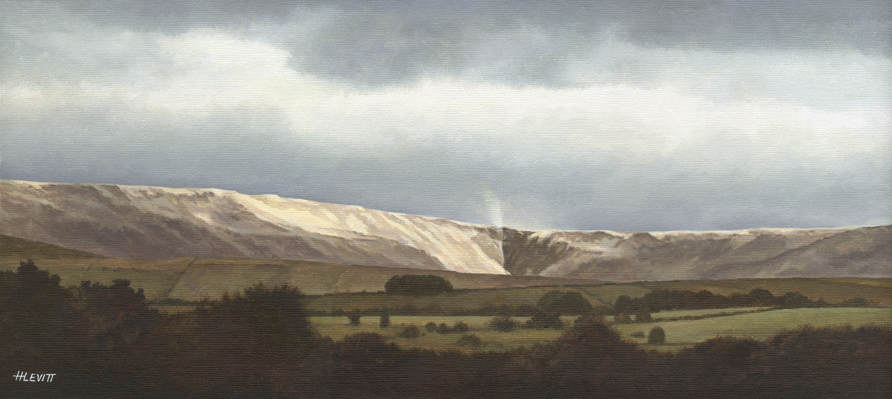 Kinder Downfall , Hayfield, Derbyshire. Acrylic painting on canvas board Sold-Limited edition prints available