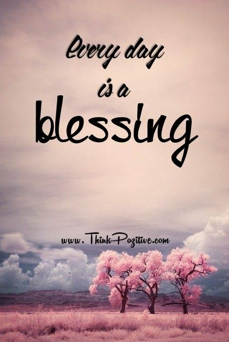- How many blessings can you count today?