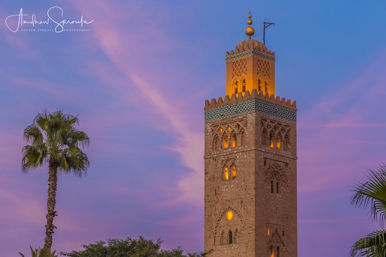 Andrew Sproule | Adventure and Wildlife Photographer | Marrakech, Morocco | Koutoubia Mosque Minaret