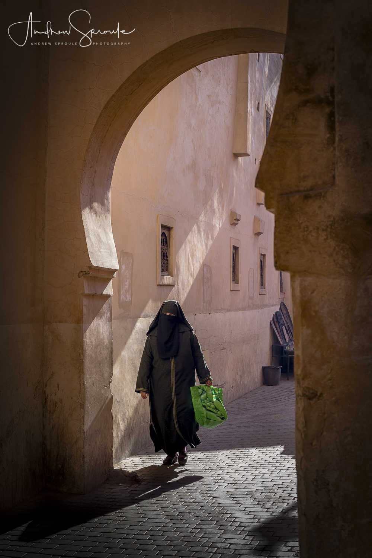 Andrew Sproule | Adventure and Wildlife Photographer | Marrakech, Morocco | Medina Market Street