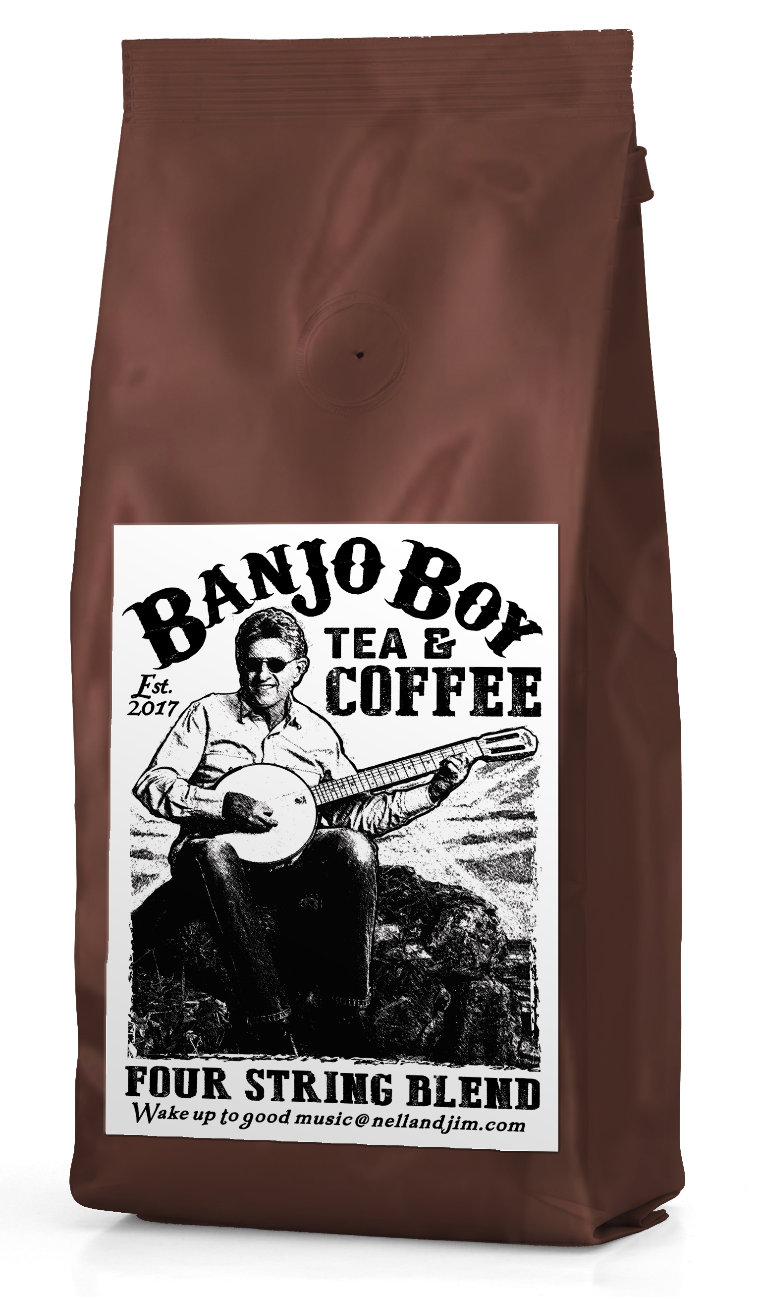 Four String Blend - This medium roast of single origin beans from Africa has uncanny blueberry overtones, it's got the taste to match the tempo and tone for your favorite tune, be it ragtime, swing, folk or Irish.