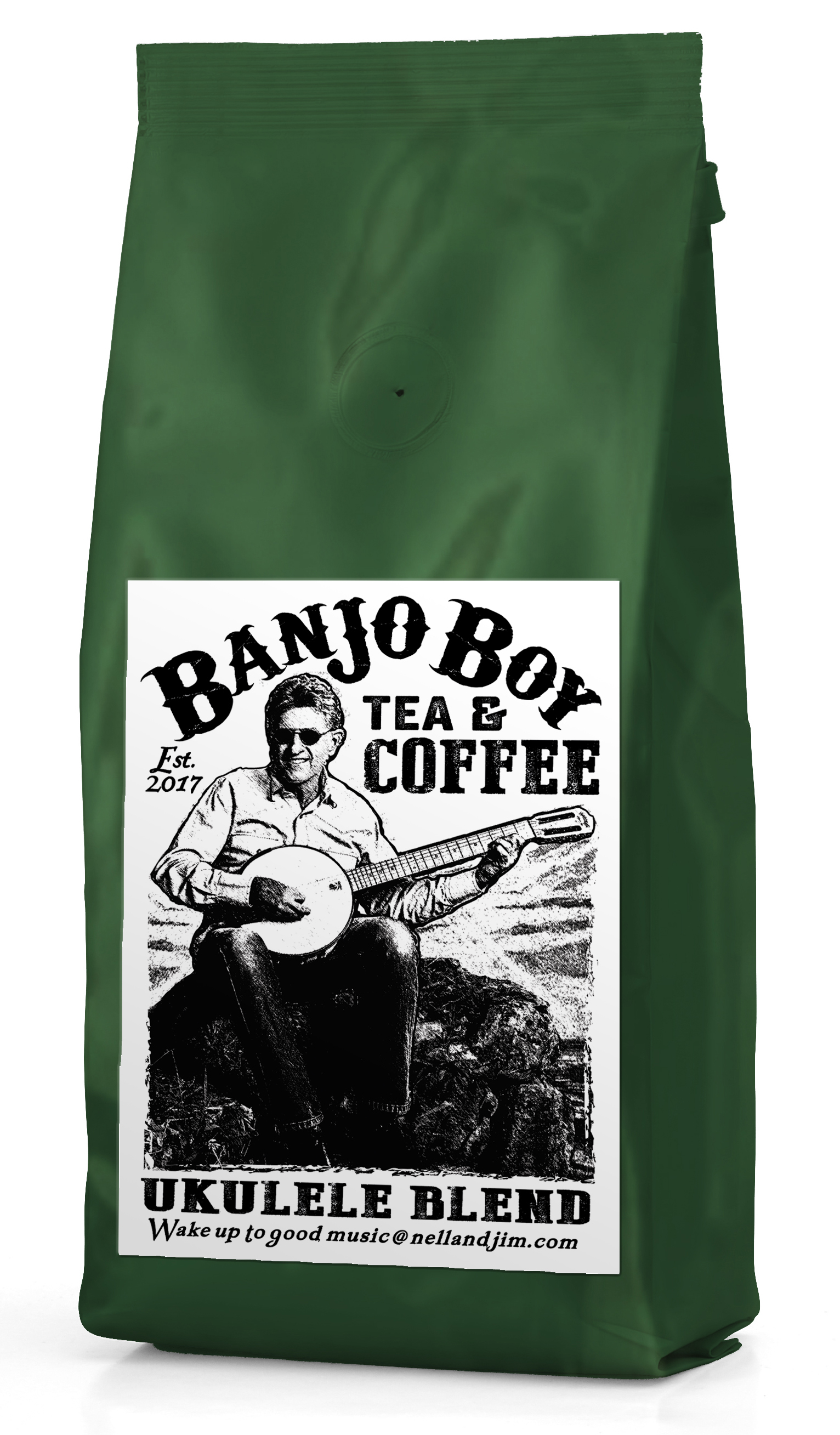 Ukulele Blend - This light roast blend has the classic Kona flavor profile, taste the air and smell the sea 'round the islands, bright overtones with hues of honey.