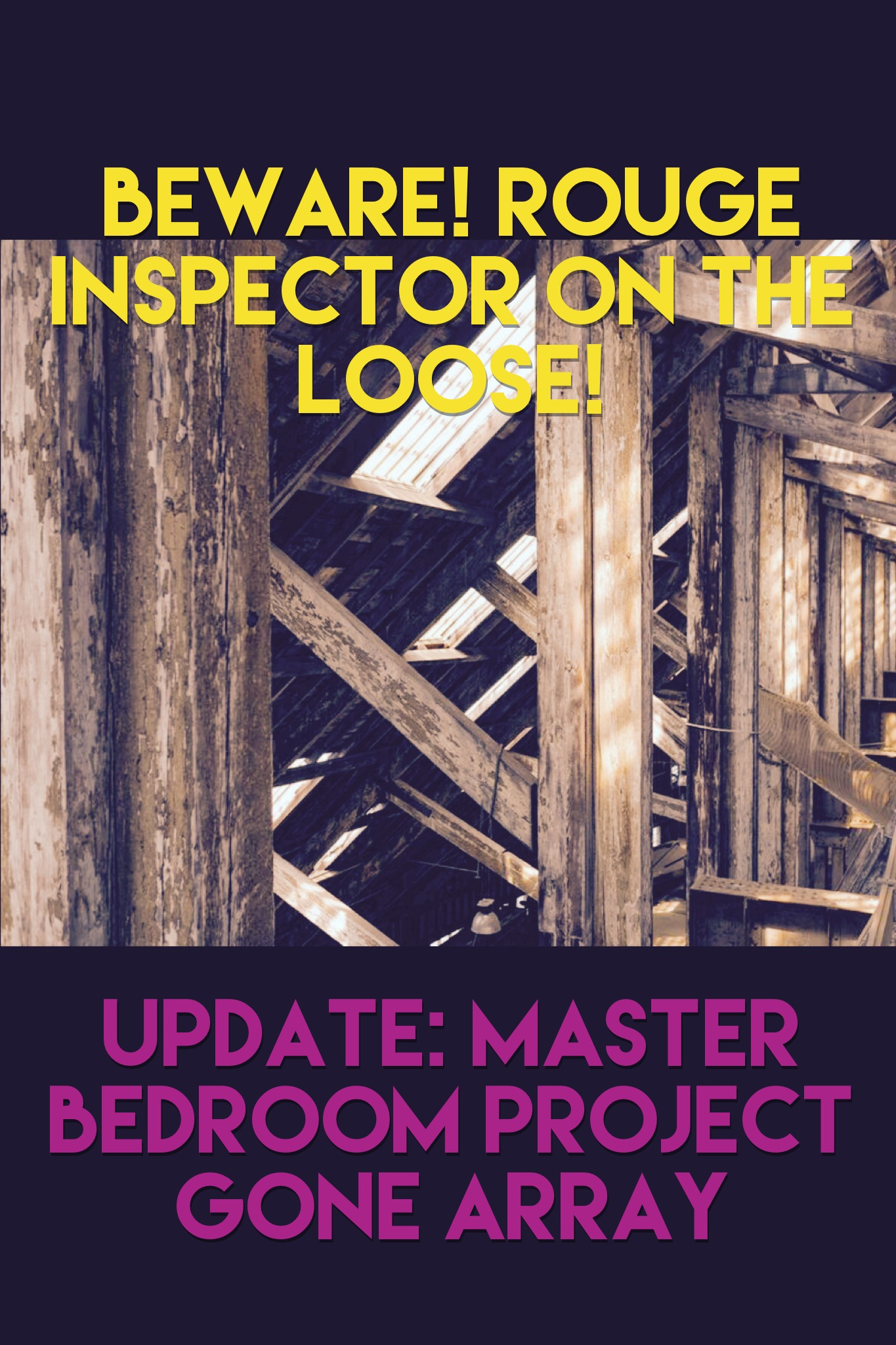 Rouge Home Inspector on the loose- how to fail a home inspection you didn't even sign up for. www.renovationrenegade.com