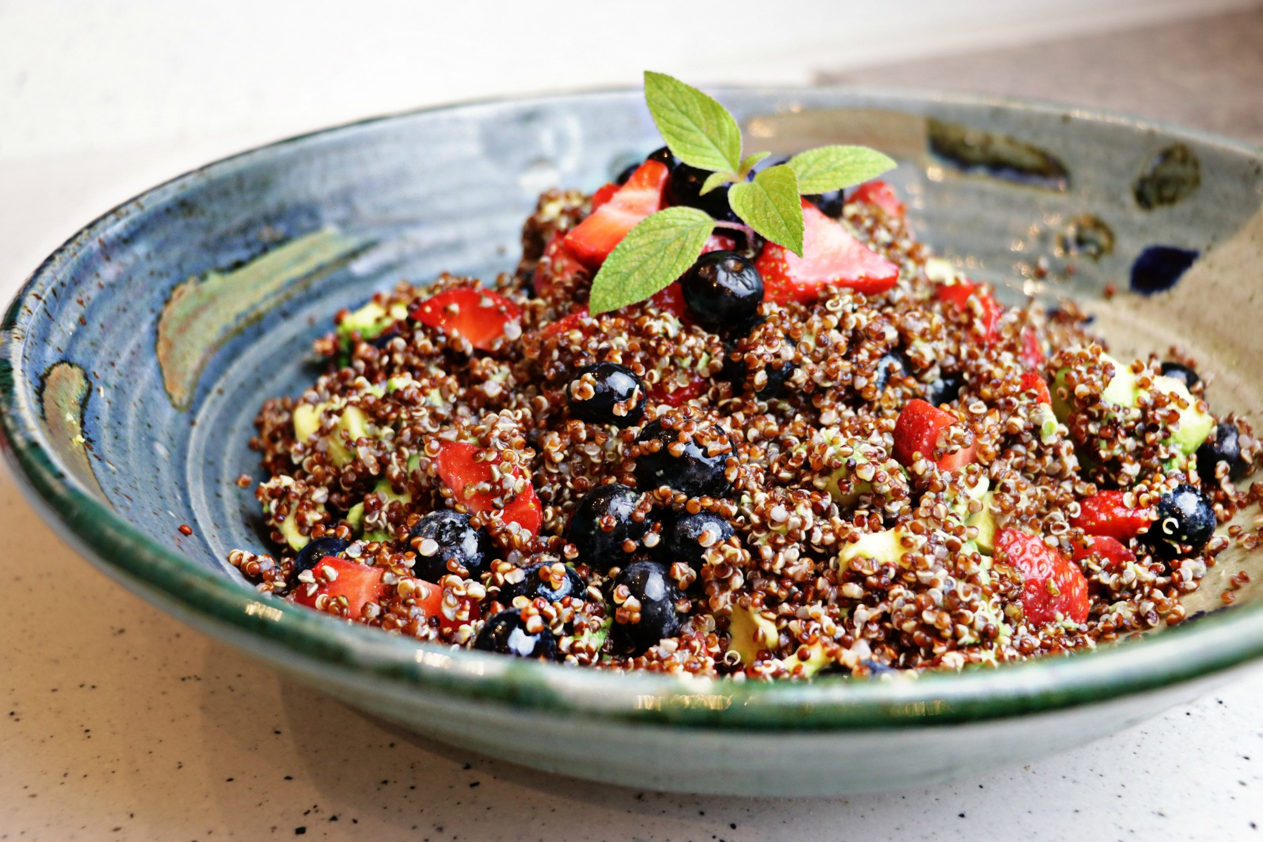 Red, Green and Blue Quinoa Salad -
