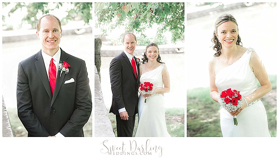 Bride and groom pics at Bloomington Miller Zoo