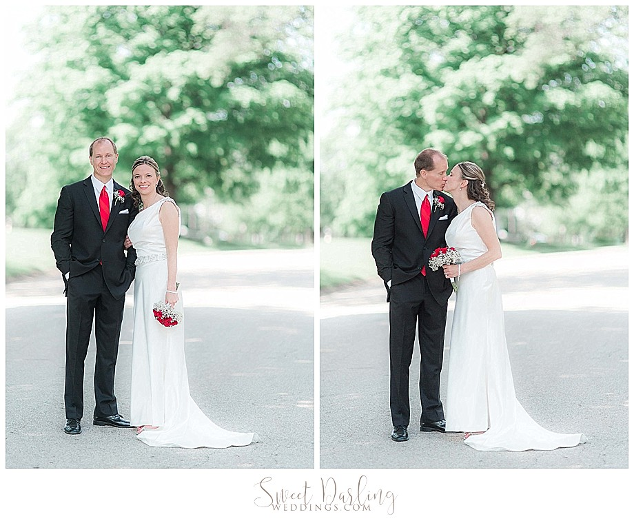 Bride and groom portraits at Miller Park Bloomington