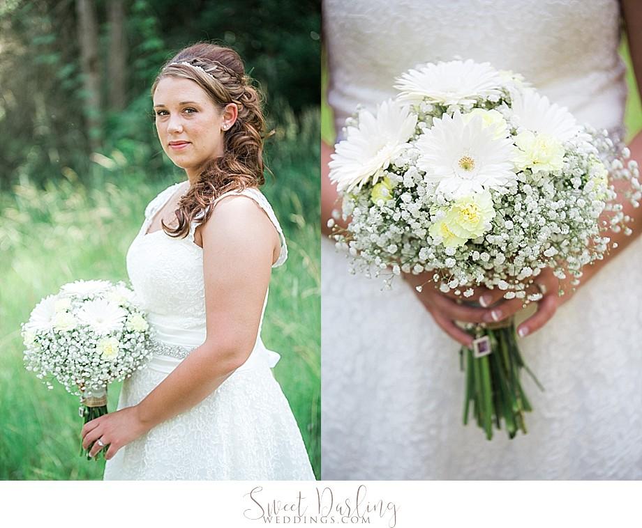 bride holding flowers wedding bouquet