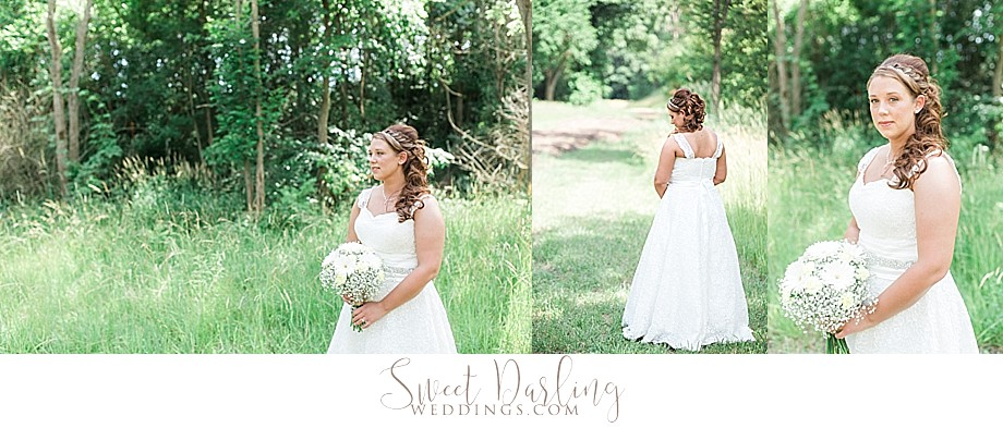 bride outdoor portraits natural light