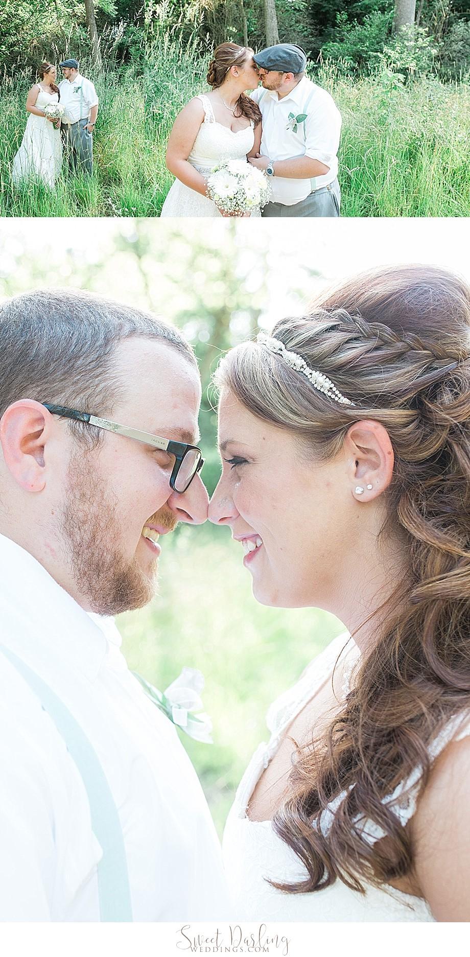 braid curl hairdo on bride