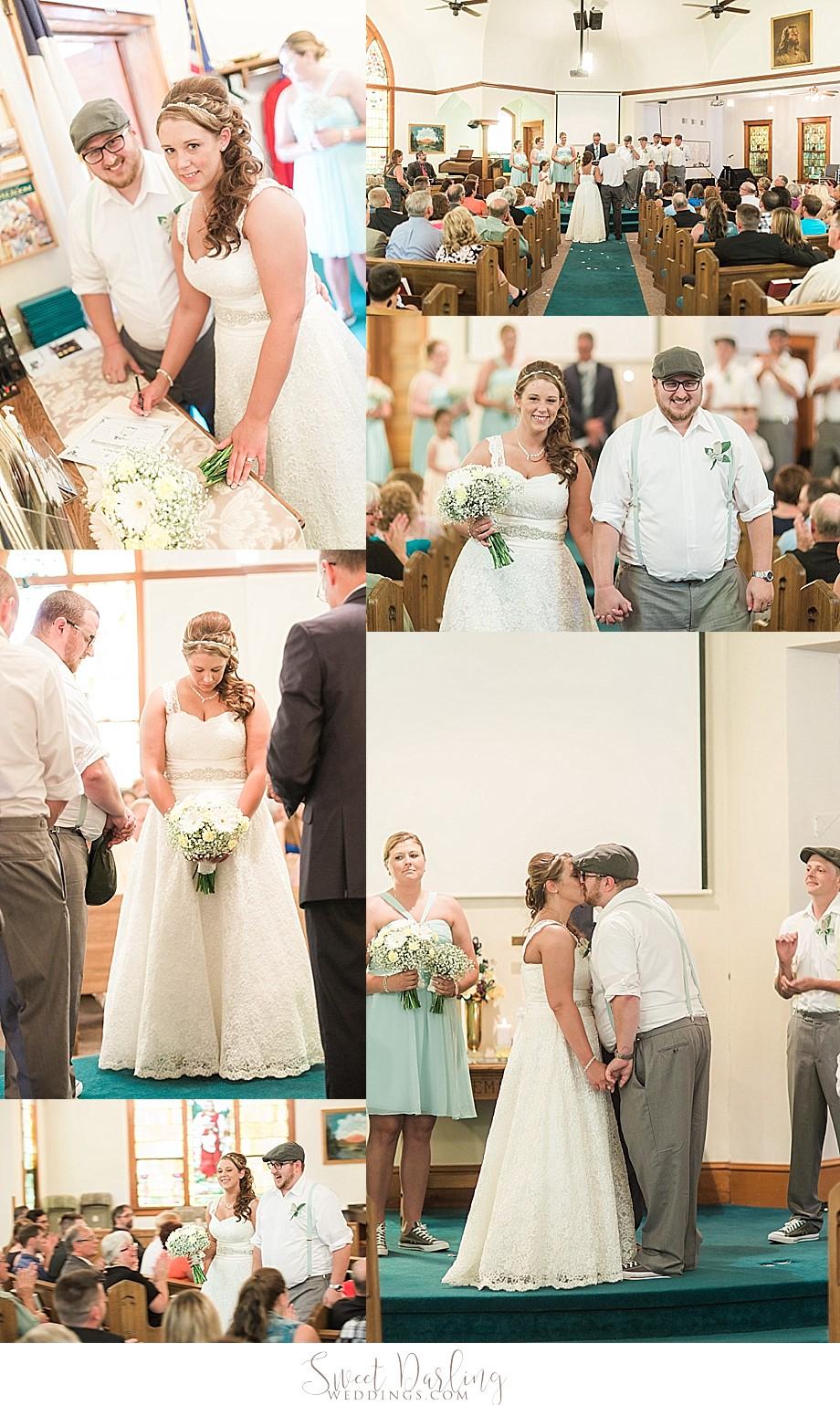 ceremony pics at United Methodist Church Downs IL