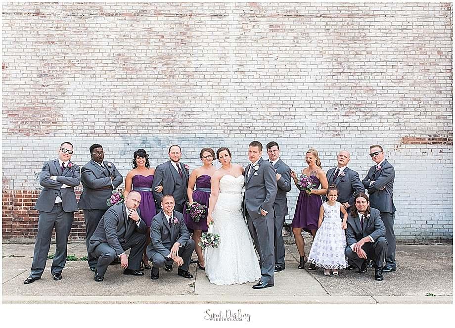 Bridal party pics at Champaign Orpheum museum