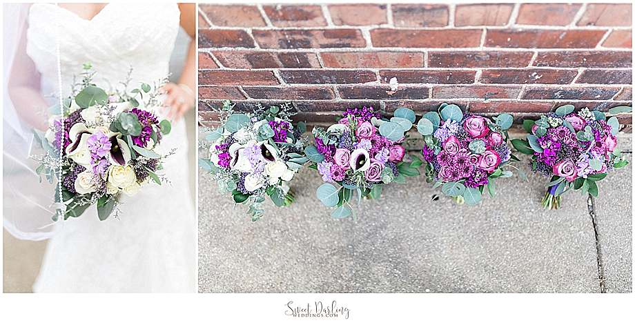 gorgeous flowers purple roses by Flora Design