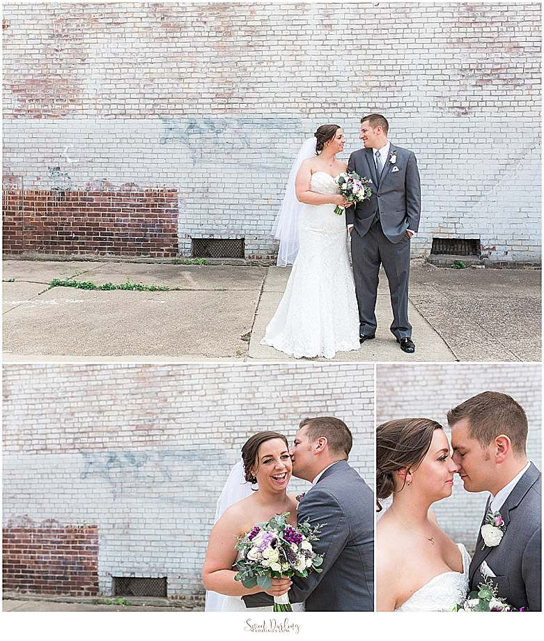 bride and groom at Orpheum museum