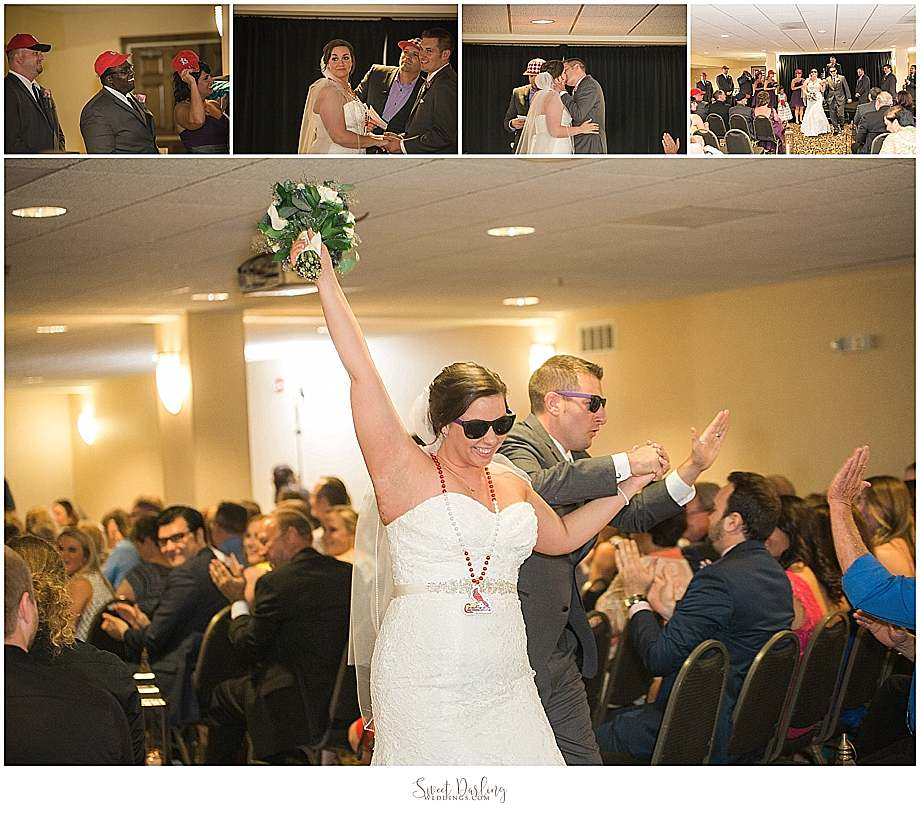 kiss the bride cardinals fan
