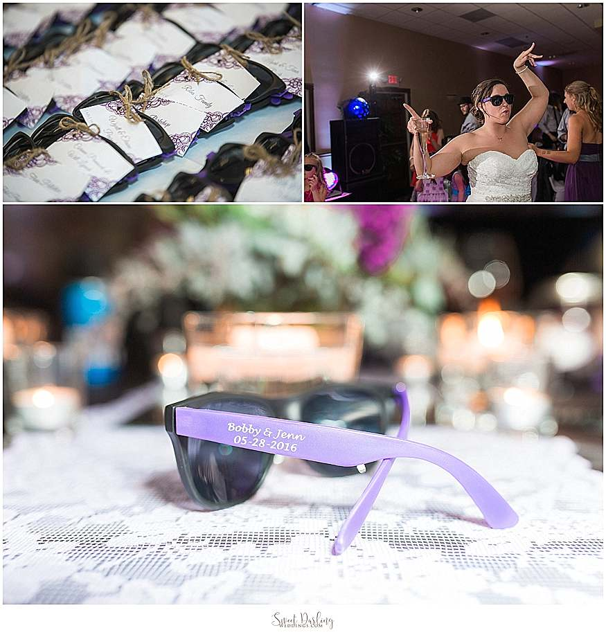 personalized sunglasses are perfect wedding favor
