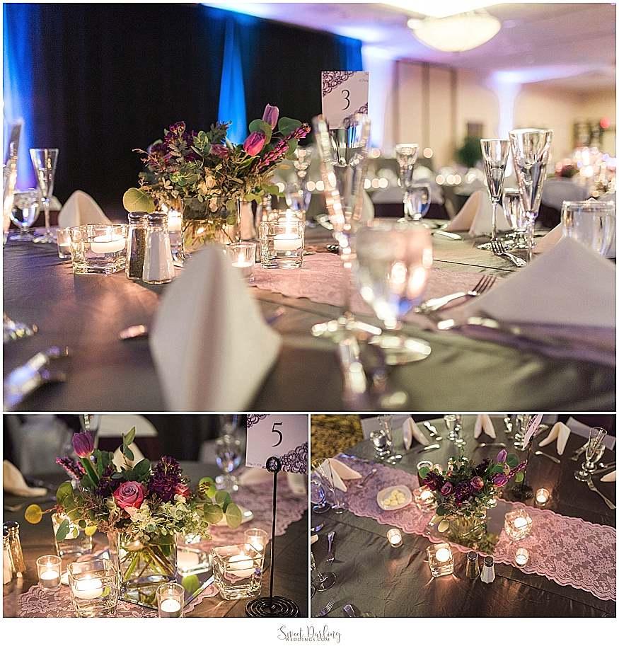 reception details at Hilton Garden Inn