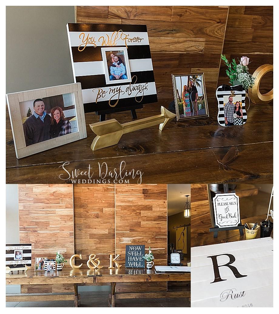 custom pallet wood guest book