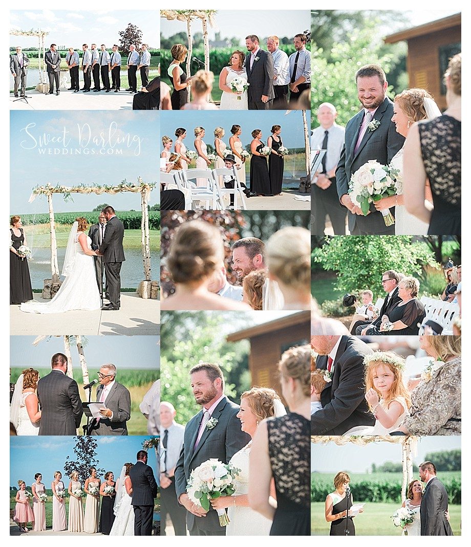 outdoor ceremony at Pear Tree Estate