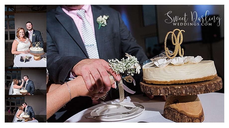 cheesecake wedding cake wood rustic cake stand